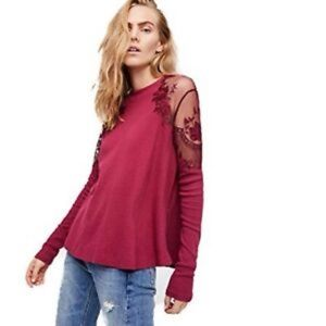 💖 NWT Free People Daniella Embroidered top